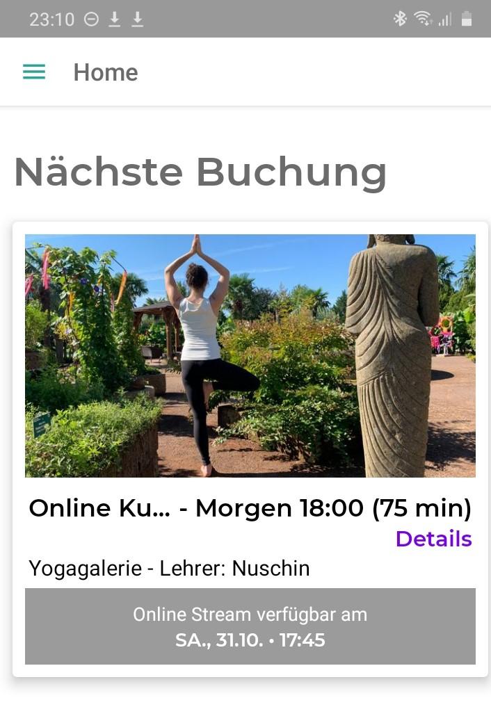 Online Yoga Kurs Live Stream
